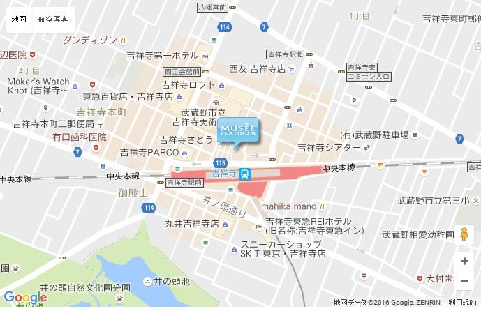 ミュゼ 吉祥寺北口店の地図