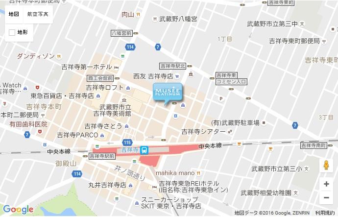 ミュゼ 吉祥寺店の地図