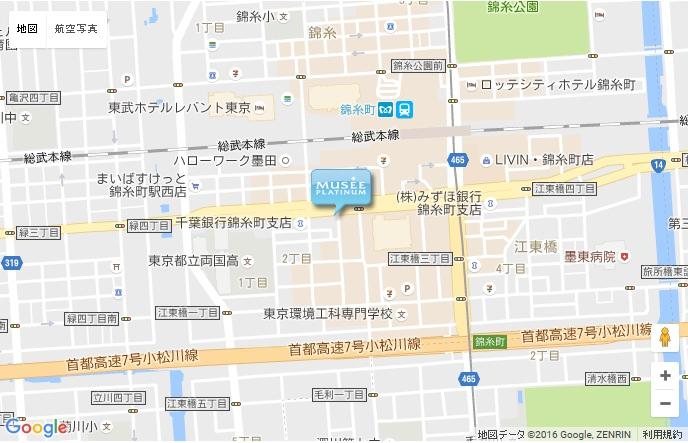 ミュゼ 錦糸町店の地図