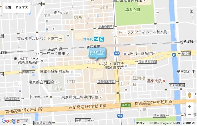 ミュゼ 錦糸町駅前店の地図
