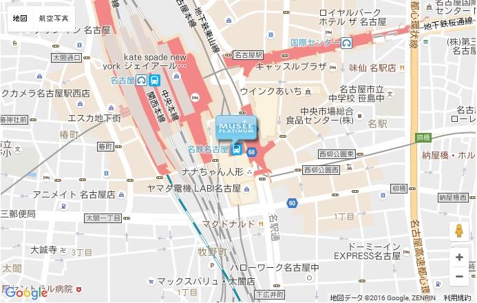 ミュゼ 近鉄パッセ店の地図