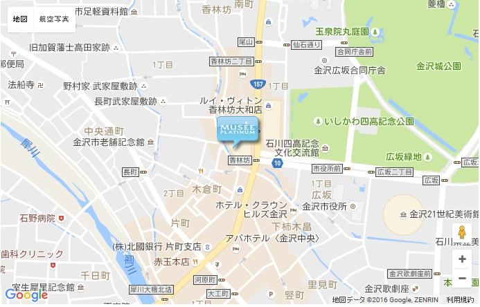 ミュゼ 香林坊東急スクエア店の地図