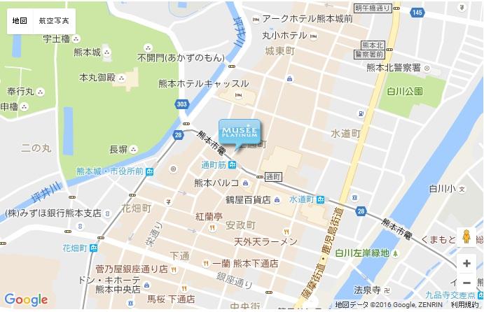 ミュゼ 熊本アウネ店の地図