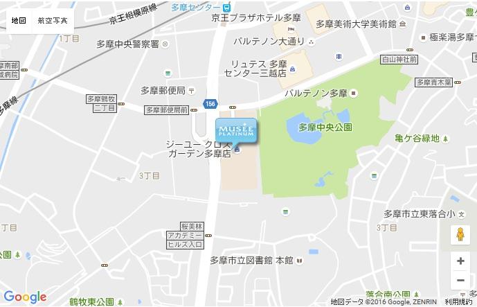 ミュゼ クロスガーデン多摩店の地図