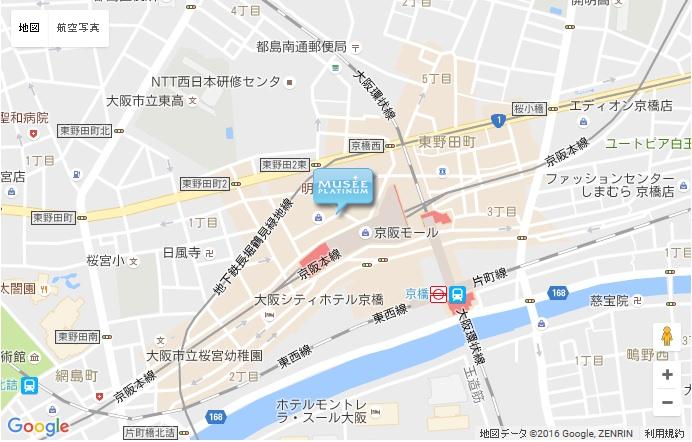 ミュゼ 京橋駅前店の地図