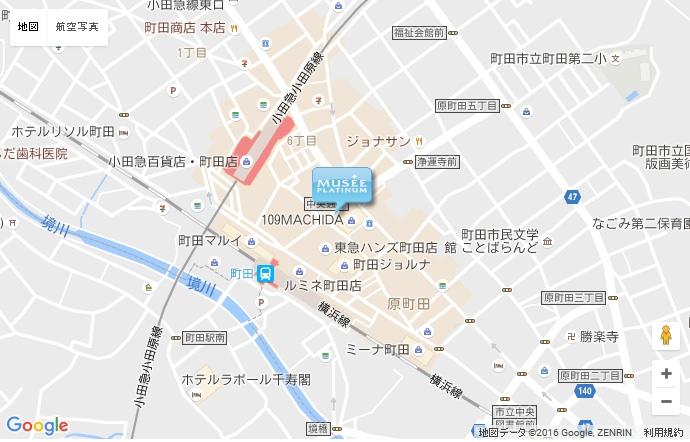 ミュゼ 町田109店の地図