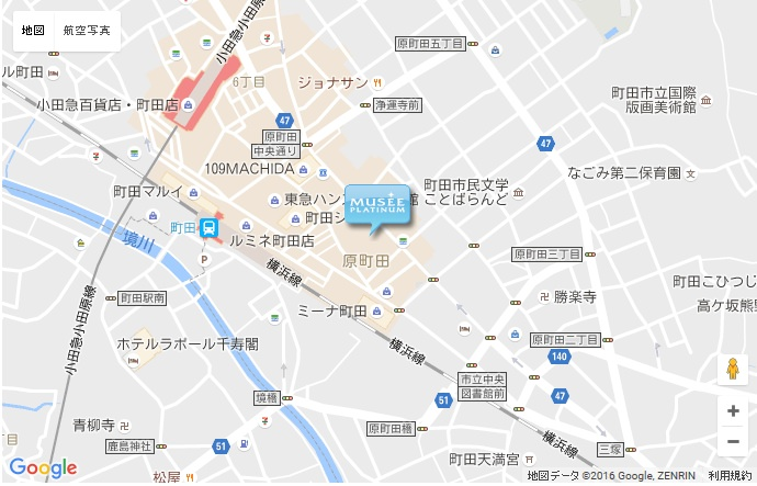 ミュゼ グラン町田レガロ店の地図