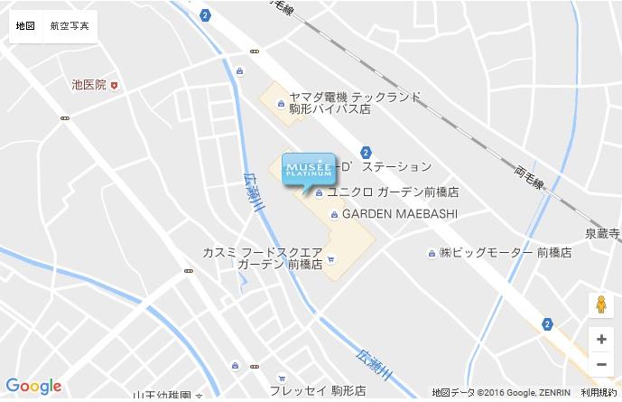 ミュゼ ガーデン前橋店の地図