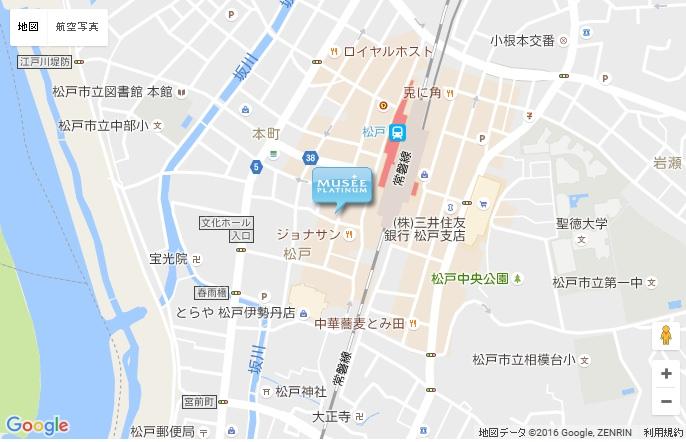 ミュゼ 松戸店の地図