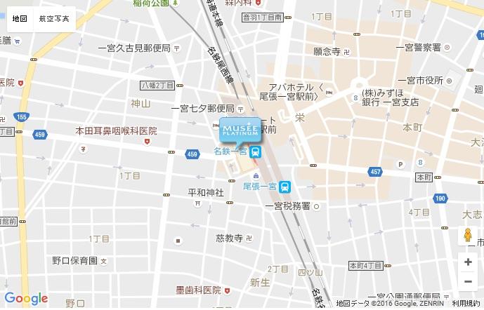 ミュゼ 名鉄百貨店一宮店の地図