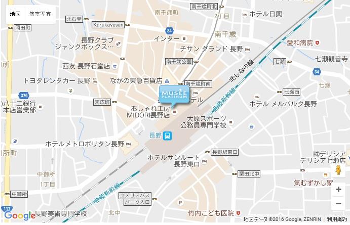ミュゼ 松本パルコ店の地図