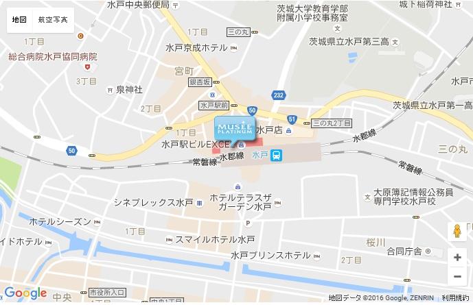 ミュゼ 水戸エクセル店 の地図
