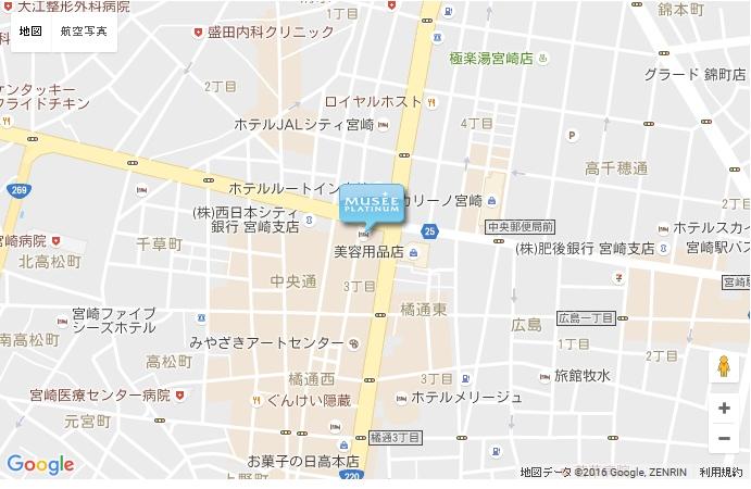 ミュゼ 宮崎店の地図