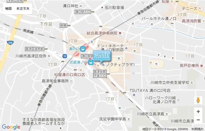 ミュゼ 溝口ノクティプラザ店の地図