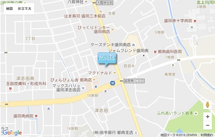 ミュゼ 盛岡南店の地図