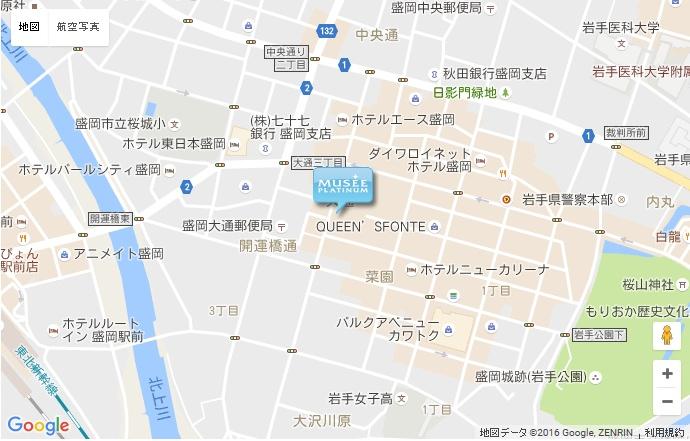 ミュゼ 盛岡MOSS店の地図