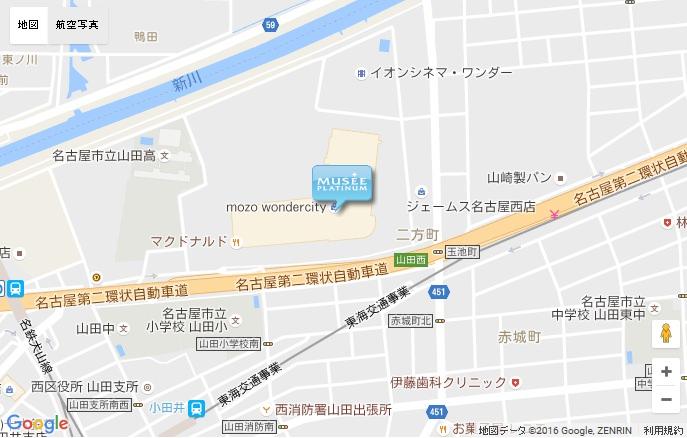 ミュゼ mozo ワンダーシティ店の地図
