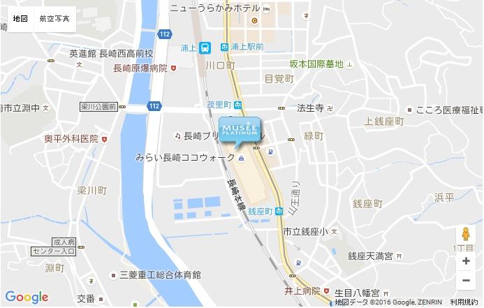 ミュゼ みらい長崎ココウォーク店の地図