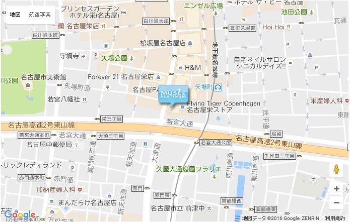 ミュゼ 名古屋パルコ店の地図