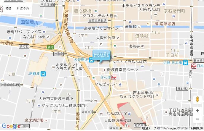 ミュゼ 近鉄難波ビル店の地図