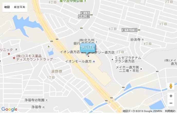ミュゼ 直方イオンモール店の地図