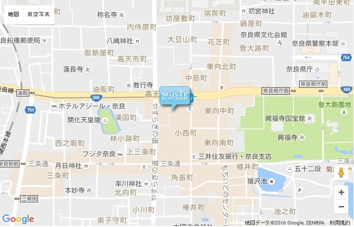 ミュゼ 近鉄ならら店の地図