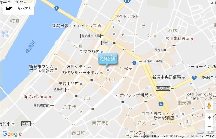 ミュゼ 新潟万代シティ店の地図