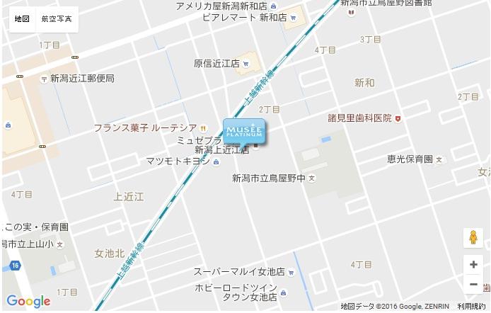 ミュゼ 新潟上近江店の地図