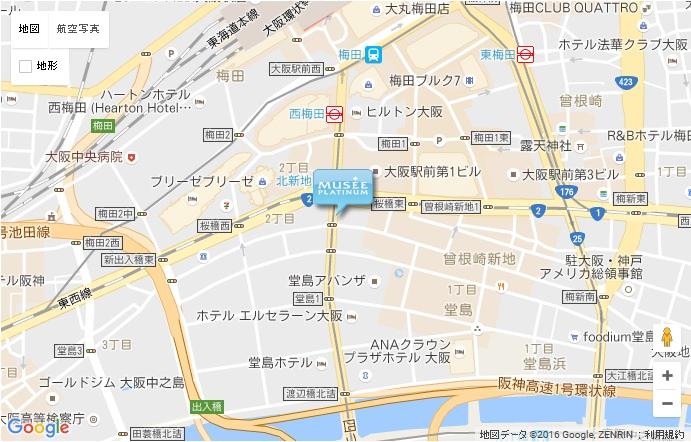 ミュゼ グラン西梅田店の地図