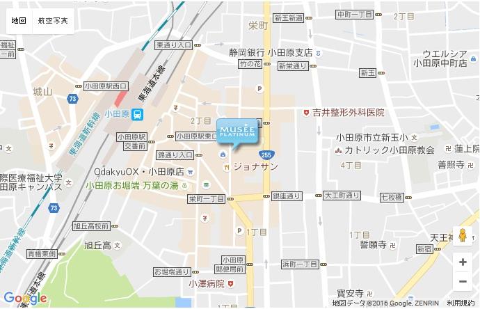 ミュゼ 小田原EPO店の地図