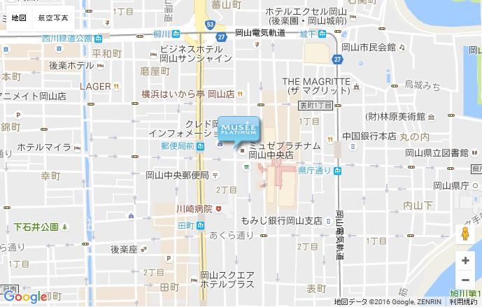 ミュゼ 岡山中央店の地図