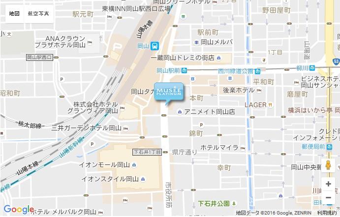ミュゼ 岡山駅前店の地図