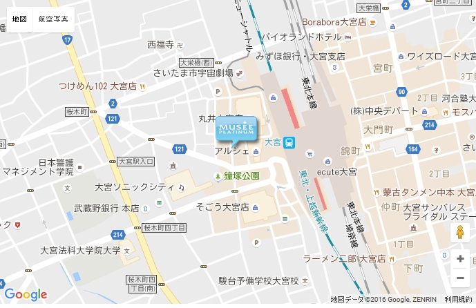 ミュゼ 大宮店の地図