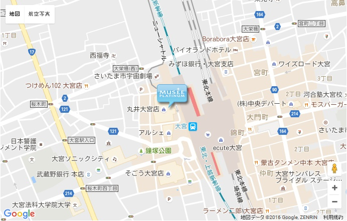 ミュゼ 大宮駅前店の地図