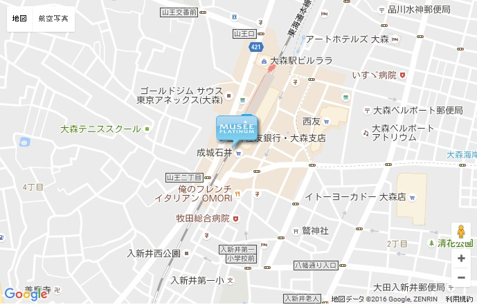 ミュゼ アトレ大森店 の地図