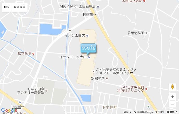 ミュゼ 太田イオンモール店の地図