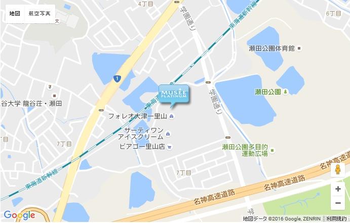 ミュゼ フォレオ大津一里山店の地図