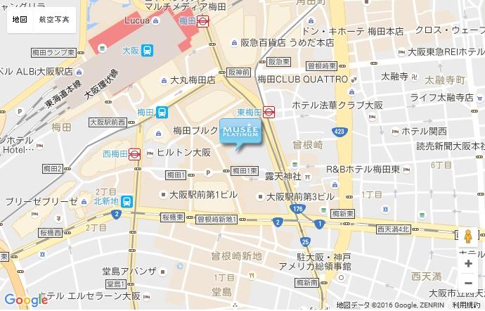 ミュゼ 大阪駅前第4ビル店の地図