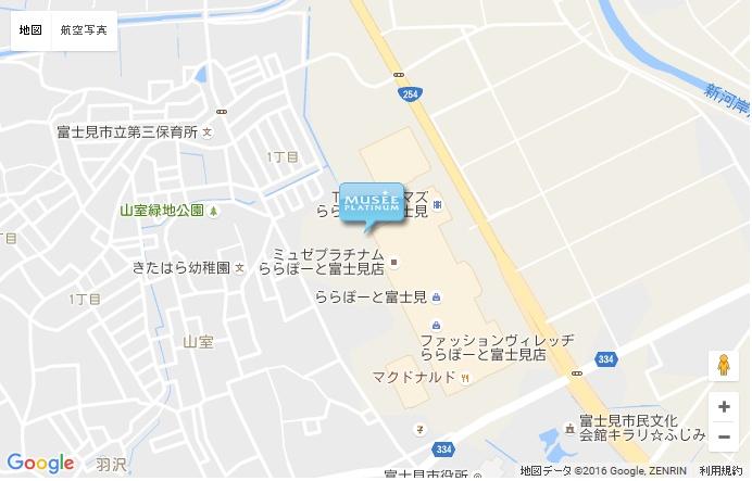 ミュゼ ららぽーと富士見店 の地図