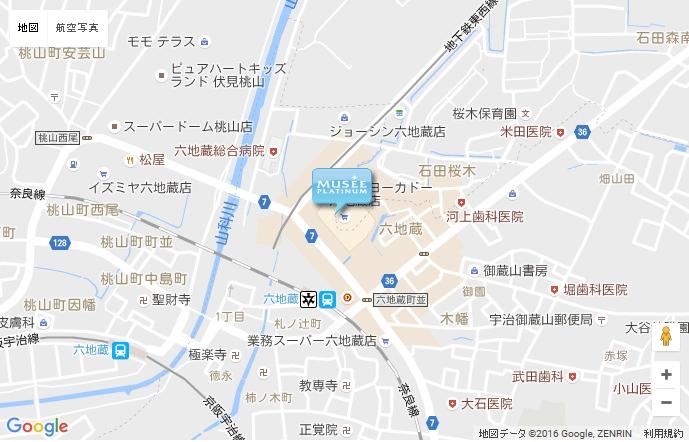 ミュゼ イトーヨーカドー六地蔵店の地図