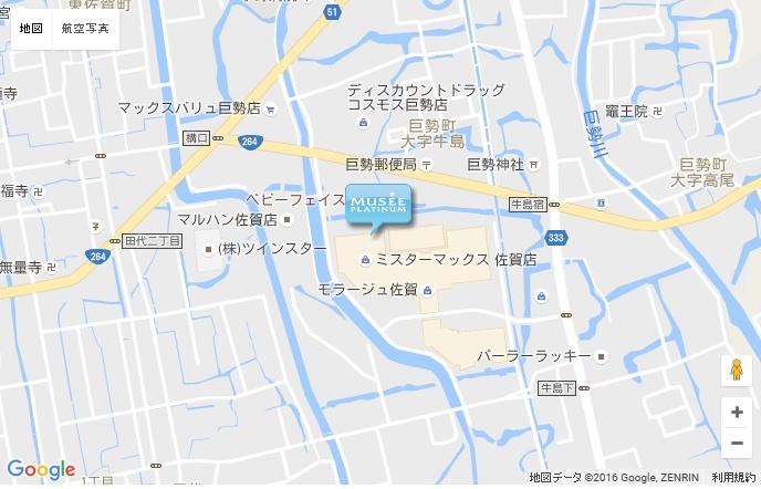 ミュゼ モラージュ佐賀店の地図