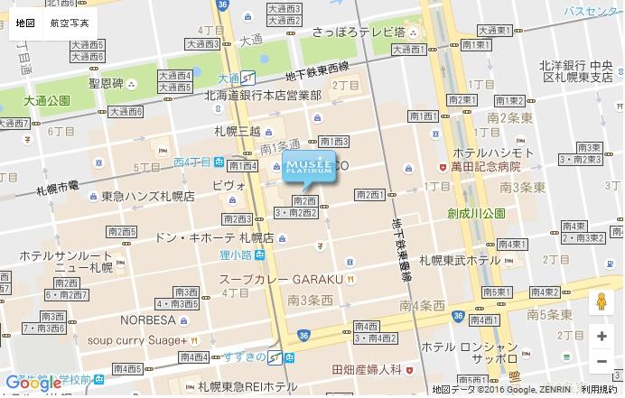 ミュゼ 札幌中央店の地図