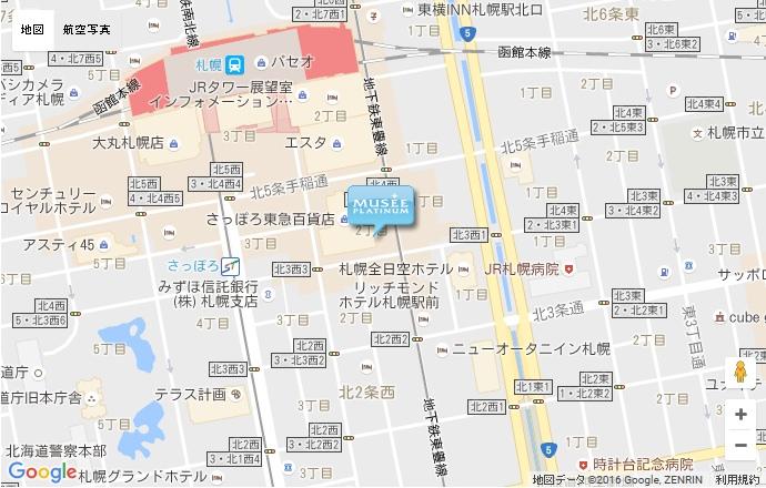 ミュゼ JR札幌駅前店の地図