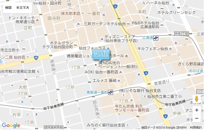 ミュゼ 仙台一番町店の地図
