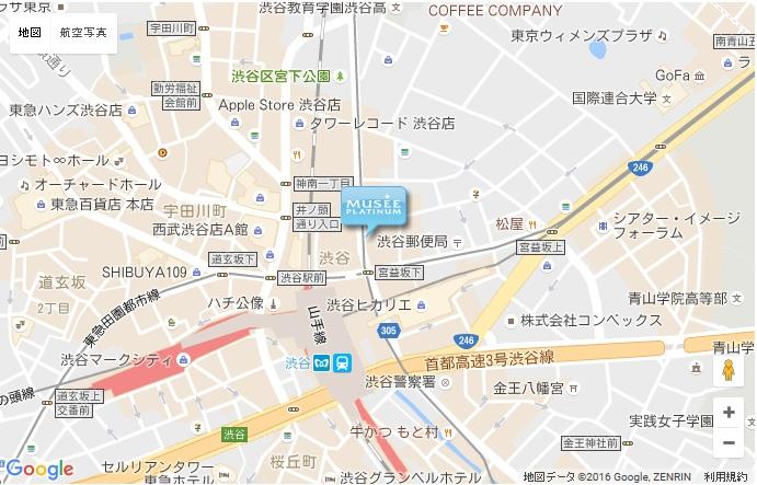 ミュゼ 渋谷店の地図