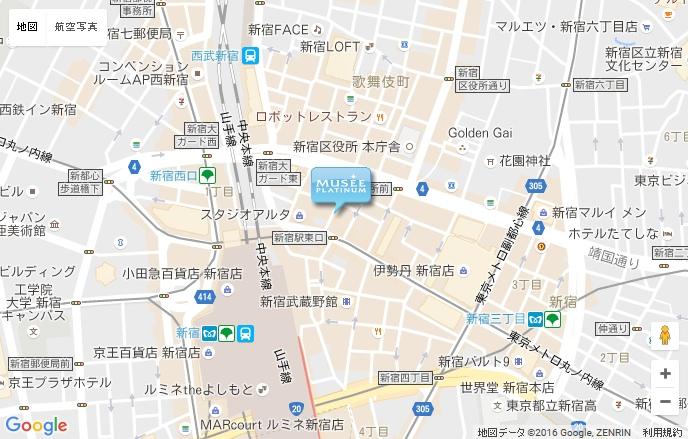 ミュゼ 新宿東口店の地図