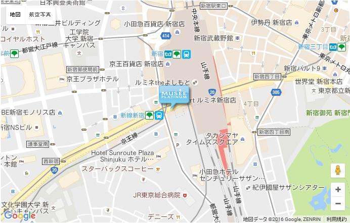 ミュゼ 新宿南口店の地図