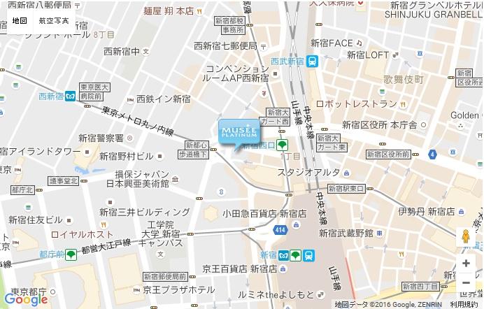 ミュゼ 新宿西口店の地図