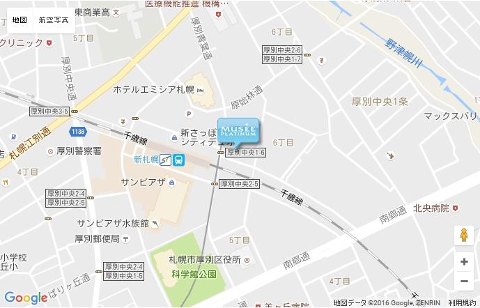 ミュゼ 新札幌店の地図