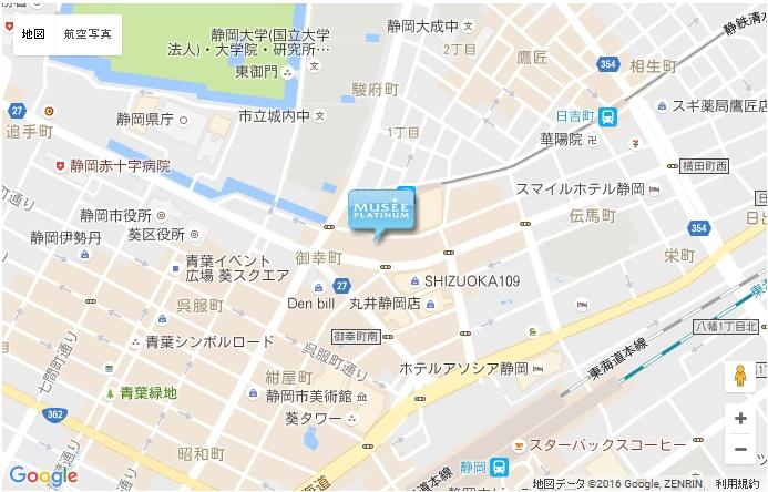 ミュゼ 新静岡駅前店の地図